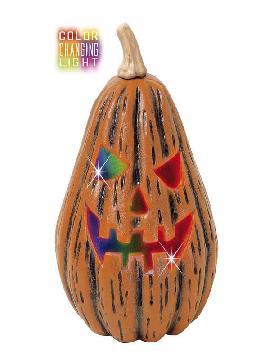 calabaza pera con luces de colores