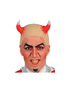 calva de demonio con cuernos
