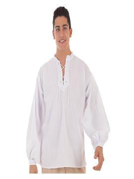 camisa medieval blanca para hombre