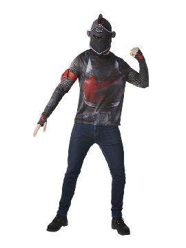 camiseta de fortnite black knight para niño adolescente