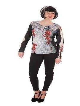 camiseta de novia cadaver para mujer
