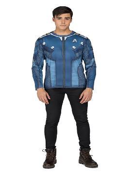 camiseta disfraz de kirk star trek hombre