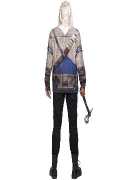 camiseta disfraz de connor assassins creed hombre