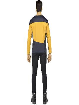 camiseta disfraz de data de star trek hombre