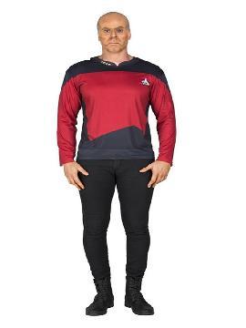 camiseta disfraz de picard de star trek hombre