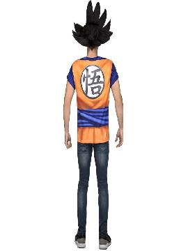camiseta disfraz de son goku de dragon ball hombre