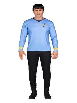 camiseta disfraz de spock star trek hombre
