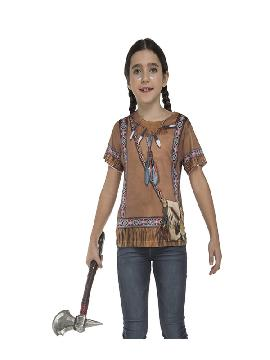 camiseta disfraz india para niña