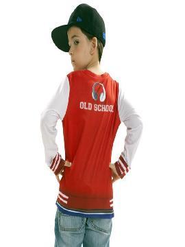 camiseta disfraz rapero para niño