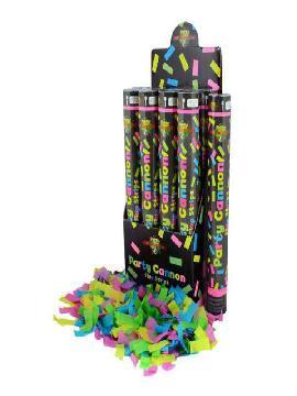 cañon confeti fluor 40 cm