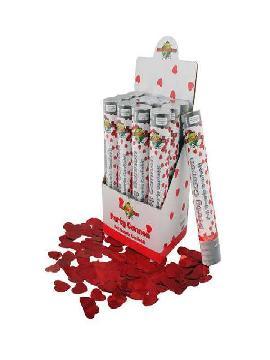 cañon confetti 50cm corazones rojos