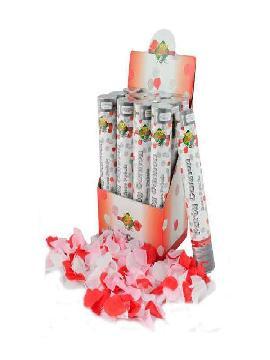 cañon confetti 50cm petalos rosas