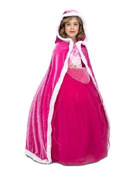 capa de princesa rosa para niña