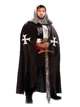 capa medieval negra adulto