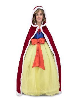 capa roja princesa para niña