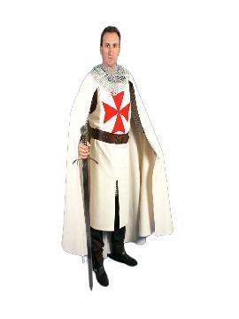 capa templaria blanca con cruz roja hombre