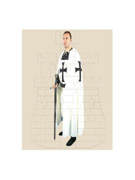 capa teutonico blanca con cruz negra hombre