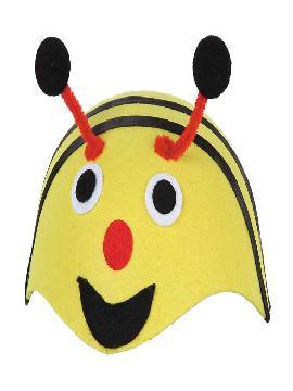 casquete abeja amarilla fieltro