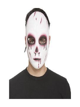 careta de psicopata sanguinario blanca
