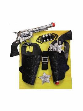 cartucheras de vaquero infantil con 2 pistolas