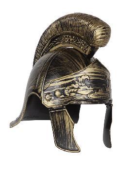 casco centurion romano plastico color oro