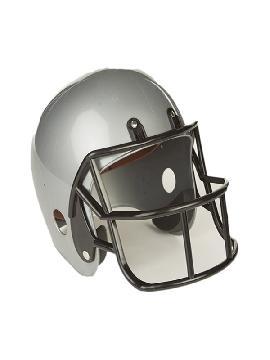 casco de futbol americano gris
