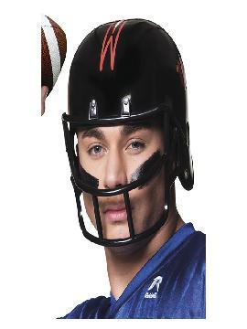 casco de futbol americano negro para adulto