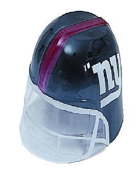 casco de rugby azul plastico