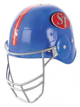 casco de rugby azul rigido