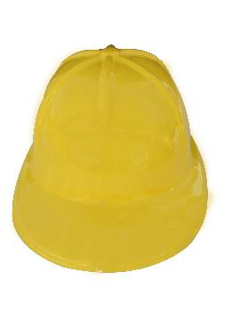 casco obrero amarillo flexible pvc 56 cm