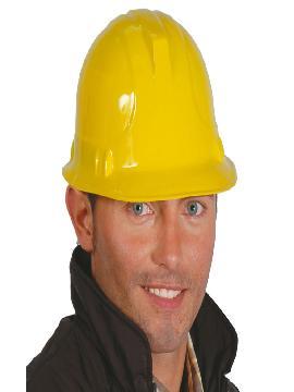 casco obrero plastico amarillo adulto
