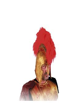 casco romano con cresta roja