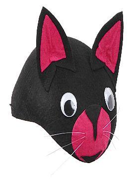 casquete o gorro gato negro fieltro