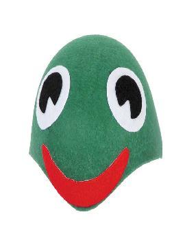casquete rana verde fieltro