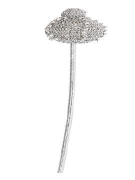 cetro de rey lujo plateado 40 cm
