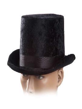 sombrero chistera negra terciopelo