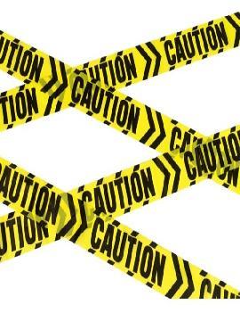 cinta caution amarilla