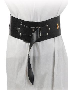 cinturón ancho medieval polipiel. Comprar vuestros cinturones baratos para grupos. Este complemento es para temáticas de medievales, piratas, corsarios, peliculas... o para vuestros disfraces.