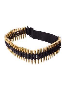 cinturon o canana con balas doradas 48cm