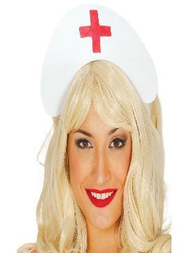 cofia o tocado de enfermera de fieltro