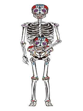 colgante de esqueleto mexicano 150 cms