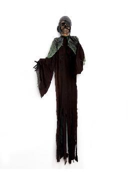 colgante esqueleto pirata con luz 180cm