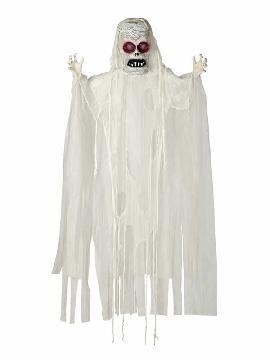 colgante fantasma blanco con luz y sonido 180 cms