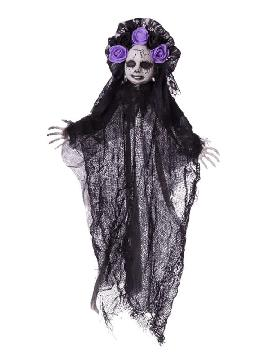colgante mujer oscura halloween