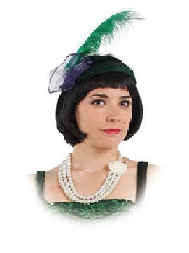 collar con perlas con flor plastico para cabaret