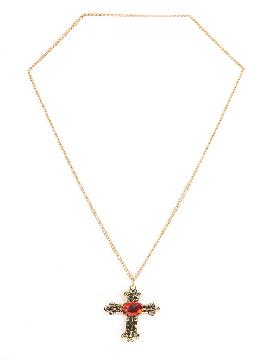 collar con cruz religiosa de piedra acrilica para cuello