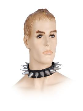collar de pinchos para rock o punk para el cuello