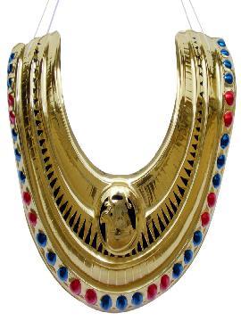 collar faraona cleopatra con relieve epoca o egipcia