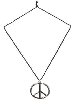 collar hippie con simbolo de metal cordon de algodon
