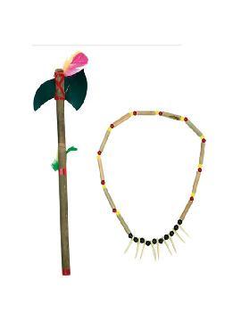 collar y lanza de indio